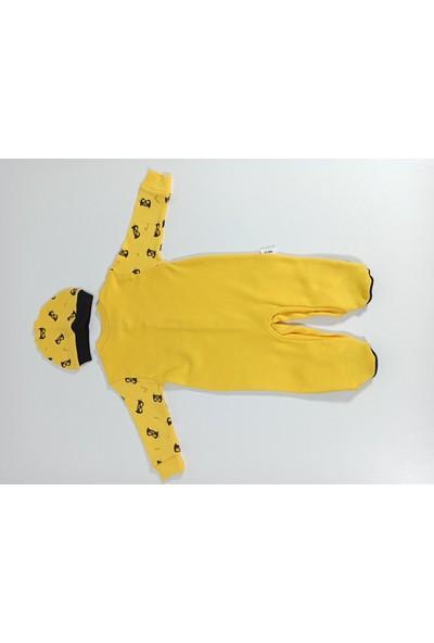 Hapşıı Kids Batman Baskılı Şapkalı Bebek Tulum