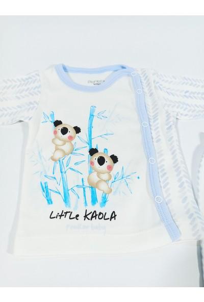 Hapşıı Kids Koala Baskılı Alt Üst Zıbın Takım 0-3 Aylık Unisex