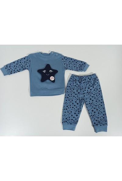 Hapşıı Kids Minikalpler Yıldız Desenli Alt Üst Erkek Bebek Takım