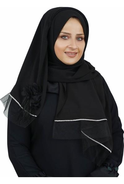 Şua İpek Özel Tasarım Çiçek Güpürlü Model Dubai İpeği Şal