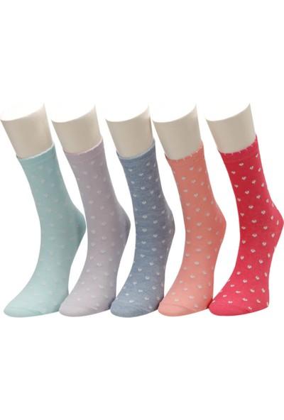 I Cool Shining 5'li Skt-G Pembe Multi Kız Çocuk Soket Çorap