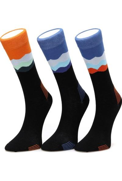 Lumberjack Wavy Mavi Çorap