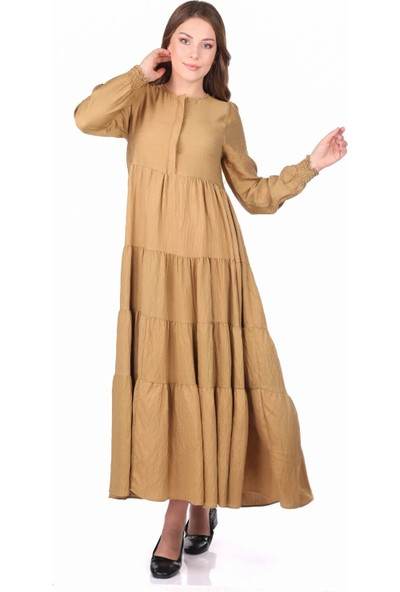 Markapia Woman Büzgülü Uzun Elbise