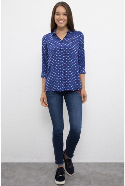 U.S. Polo Assn. Kadın Lacivert Gömlek Uzunkol 50219248-VR033