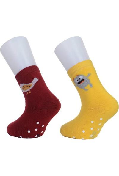 Sturm Moehlmann Üç Çift Kaydırmaz Kışlık Havlu Çocuk Çorap