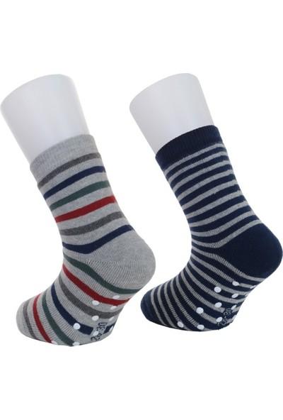 Sturm Moehlmann İki Çift Kaydırmaz Kışlık Havlu Çocuk Çorap