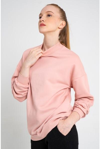 Loukai Boğazlı Oversize Sweatshirt