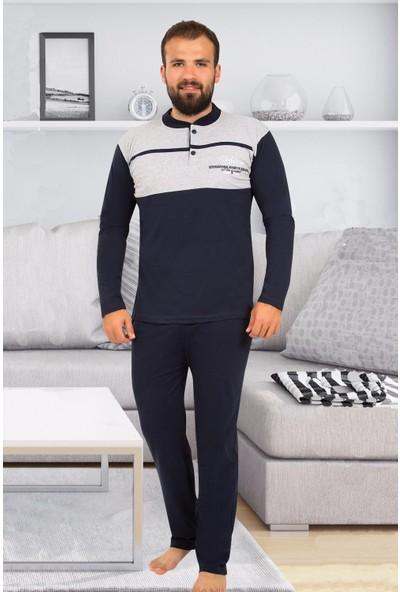 Tampap Erkek Pijama Takımı Uzun Kollu Mevsimlik Pamuklu 825