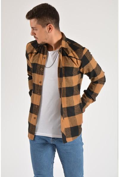 Terapi Men Erkek Oduncu Gömleği 20Y-4300518 Kahverengi