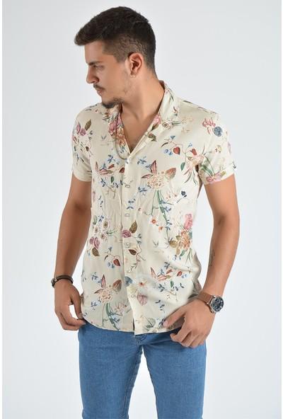 Terapi Men Erkek Kısa Kollu Desenli Gömlek