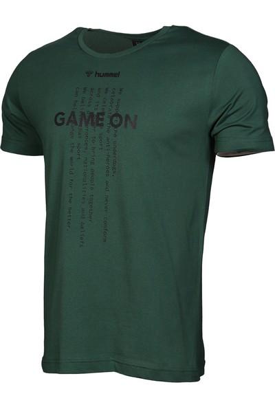 Hummel Strib Erkek Tişört - Yeşil 911186-9972