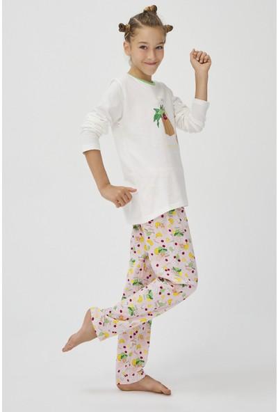 Penti Beyaz - Pembe Teen Shop Green 2'li Pijama Takımı