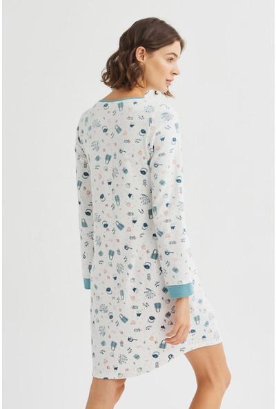 Penti Beyaz Me Time Termal Elbise