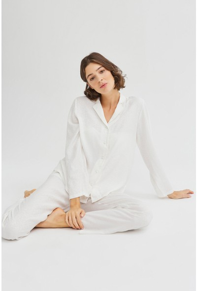 Penti Kar Beyaz Bridal Blanche Pijama Takımı