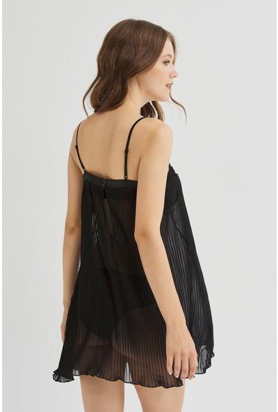 Penti Siyah Pleat Elbise