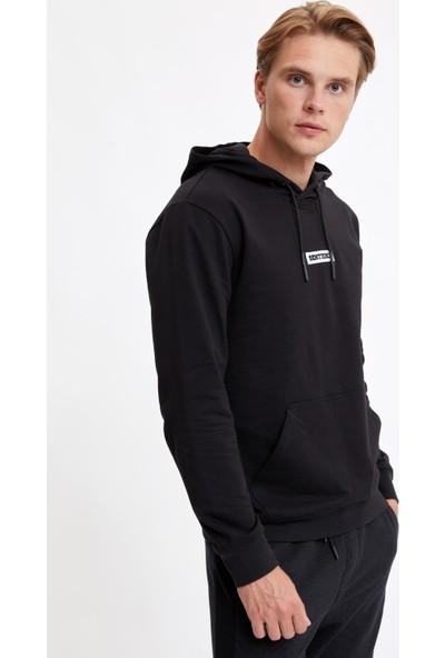 DeFacto Sentience Baskılı Kapüşonlu Slim Fit Sweatshirt R0966AZ20AU