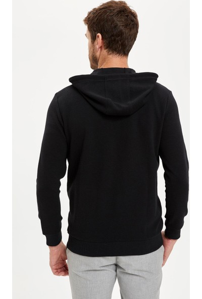 DeFacto Kapüşonlu Fermuarlı Regular Fit Sweatshirt R5775AZ20AU