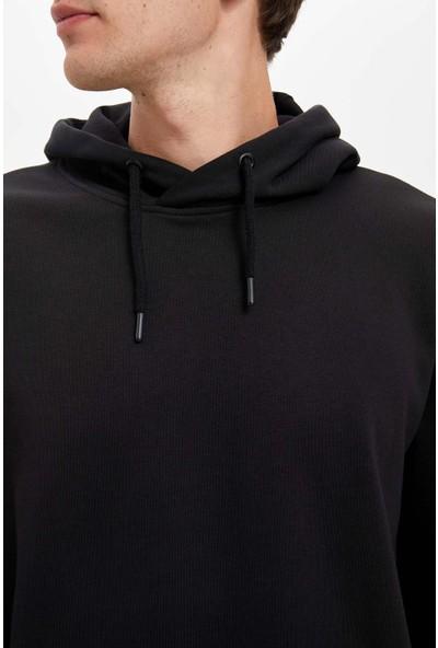 DeFacto Oversize Fit Kapüşonlu Basic Sweatshirt R4669AZ20AU