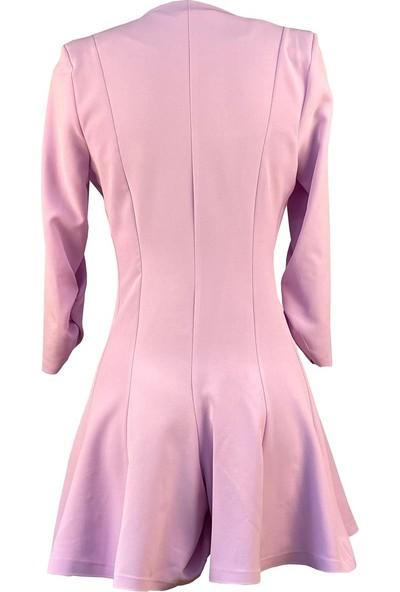 Lefital Kadın Lila Şortlu Ceket Elbise M