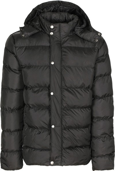 Kinetix Loren Coat Siyah Erkek Kısa Kaban