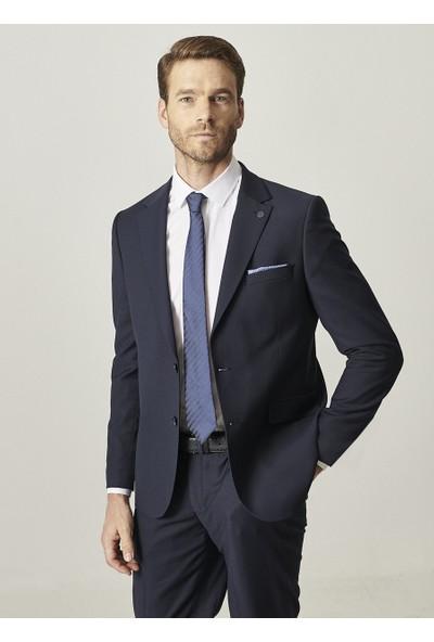 Altınyıldız Classics Regular Fit 4 Drop Desenli Lacivert Takım Elbise