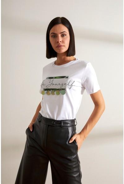 Setre Ekru T-Shirt