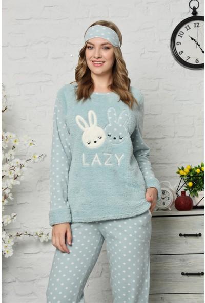 Akbeniz Welsoft Polar Kadın Pijama Takımı 8066