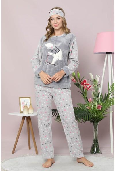 Akbeniz Welsoft Polar Kadın Pijama Takımı 8076