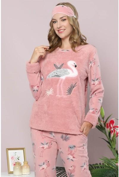 Akbeniz Welsoft Polar Kadın Pijama Takımı 8077