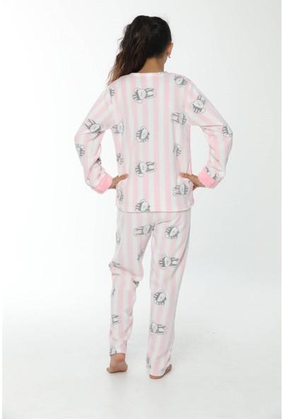 Akbeniz WelSoft Polar Kız Çocuk Pijama Takımı 4532