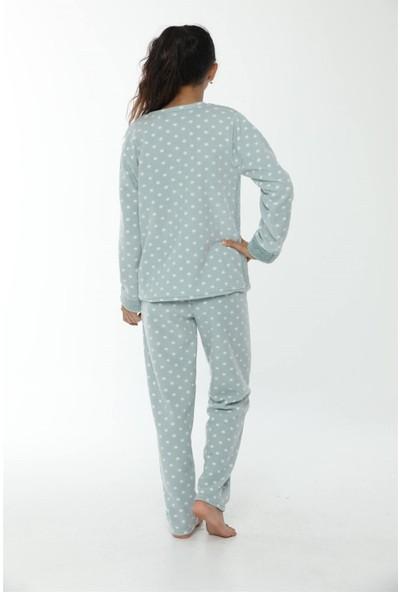 Akbeniz WelSoft Polar Kız Çocuk Pijama Takımı 4534