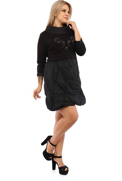 Endorfin Büyük Beden Balon Etek Paraşüt Elbise