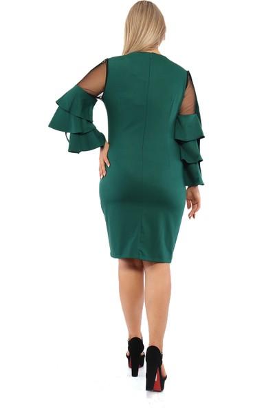 Endorfin Büyük Beden İnci Detaylı Elbise