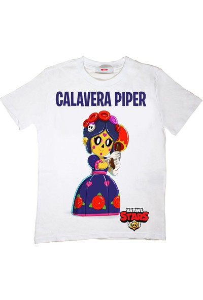 TakeTshirt Brawl Stars Calavera Piper Çocuk T-Shirt Beyaz