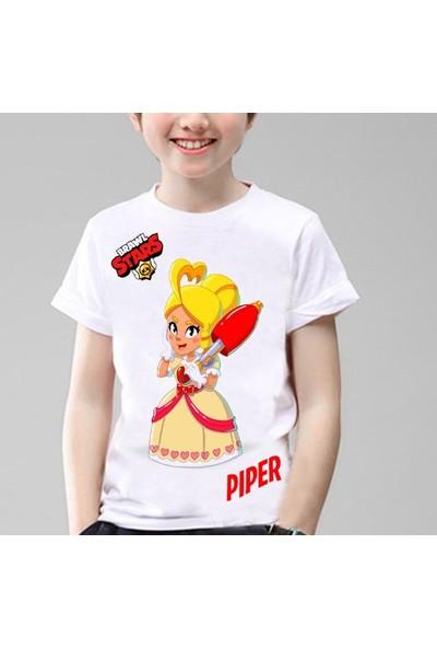 TakeTshirt Brawl Stars Cupid Piper Çocuk T-Shirt Beyaz