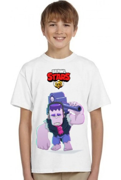 TakeTshirt Brawl Stars Frank Çocuk T-Shirt Beyaz