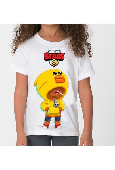 TakeTshirt Brawl Stars Sally Leon Çocuk T-Shirt Beyaz