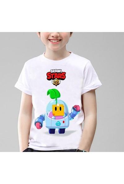 TakeTshirt Brawl Stars Sprout Çocuk T-Shirt Beyaz