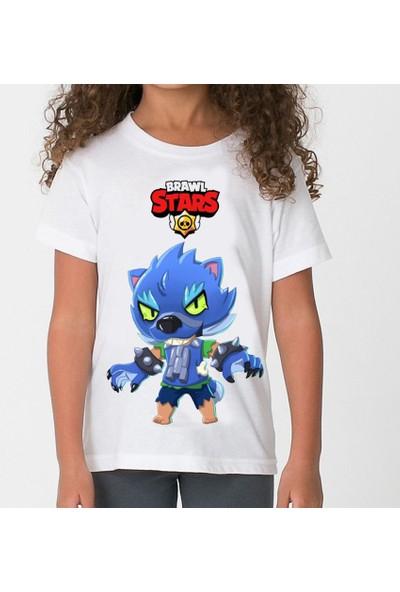 TakeTshirt Brawl Stars Werewolf Çocuk T-Shirt Beyaz