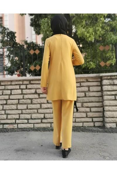 Butikburuc Tunik Pantolon Takım - Hardal