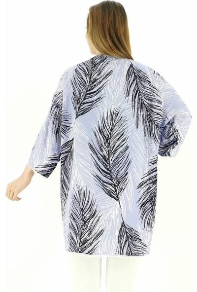 Lustri̇n Tüy Desen Ince Kadın Ceket - Lila