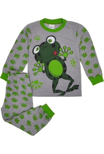 Süpermini Kurbağa Baskılı Pijama Takımı