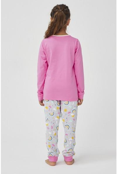 Penti Çok Renkli Kız Çocuk Rainbow 4lü Pijama Takımı