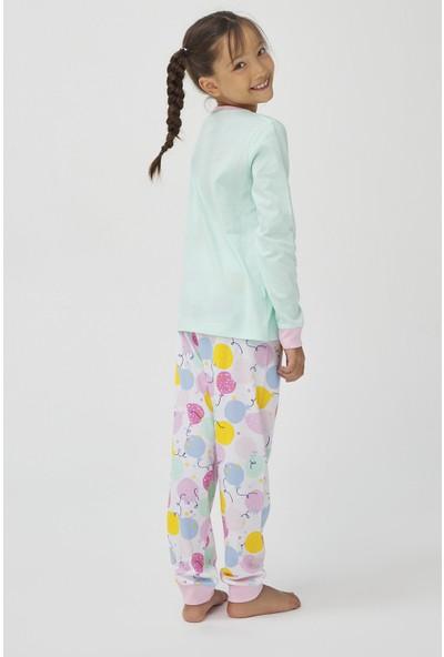 Penti Çok Renkli Kız Çocuk Pınyata 4lü Pijama Takımı
