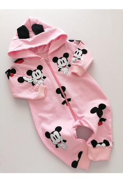 Murat Baby Kız Bebek Mickey Baskılı Tulum