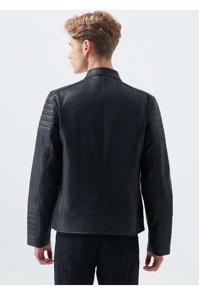 Siyah Suni Deri Ceket 010210-900