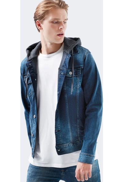 Brandon Vintage Kapüşonlu Jean Ceket 0167926983