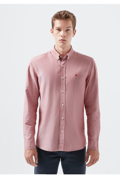 Mavi Pembe Oxford Gömlek 020033-30810