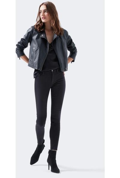 Mavi Kadın Adriana Ankle Golden Gold Siyah Jean Pantolon 1072927246