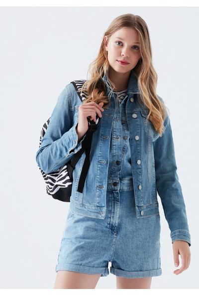 Daisy Vintage Açık Mavi Jean Ceket 1113623511